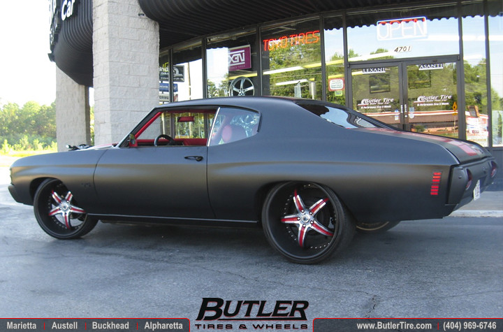 1972 Chevy Chevelle With 22in Asanti Elt144 Wheels Flickr