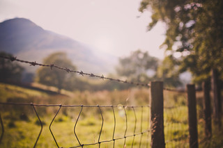 Beside the mountain there was a fence | by Paisley patches