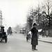 Police directing traffic at Hyde Park Corner in London in 1927