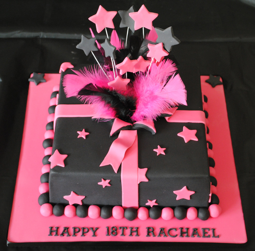 Pink And White 18th Birthday Cakes