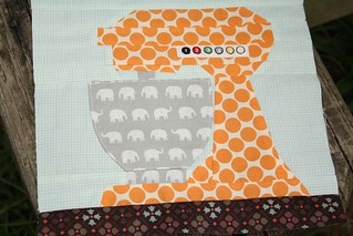 Paper Pieced Kitchen Aid Mixer # 1 ~ for Lauree for Cocorico Bee | by Erin @ Why Not Sew? Quilts