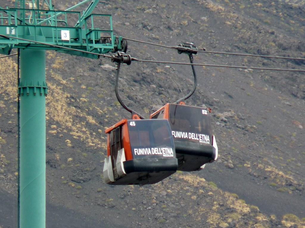 Funivia Dell Etna Etna Cableway Mount Etna Aetna In Lat Flickr