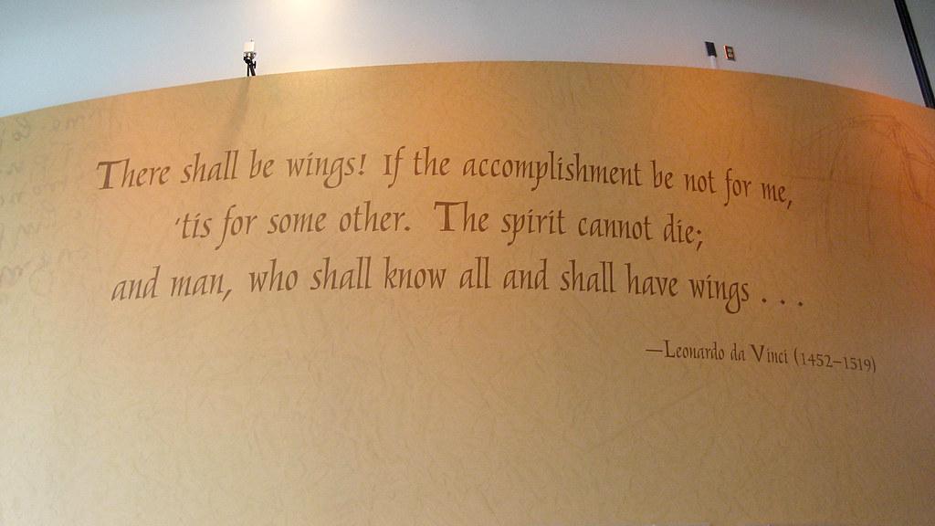 Leonardo Da Vinci Quote There Shall Be Wings If The Accom Flickr Delectable Da Vinci Quotes