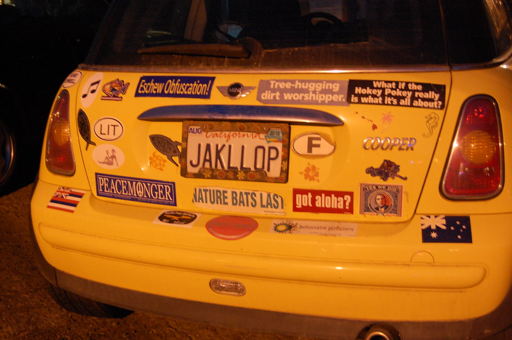 Bumperstickers On Mini Cooper What If The Hokey Pokey Real Flickr