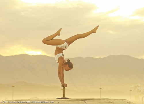 Sunset Gymnastics at Burning Man 2011: Rites of Passage | by Michael Holden