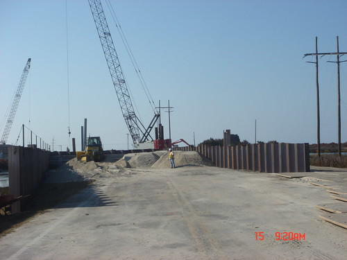 Temporary Bridge Construction at Pea Island | by NCDOTcommunications