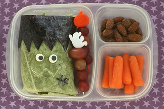 Frankenstein Monster wrap Bento lunch | by anotherlunch.com