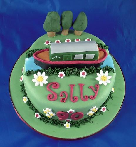 Narrow Boat Birthday Cakes