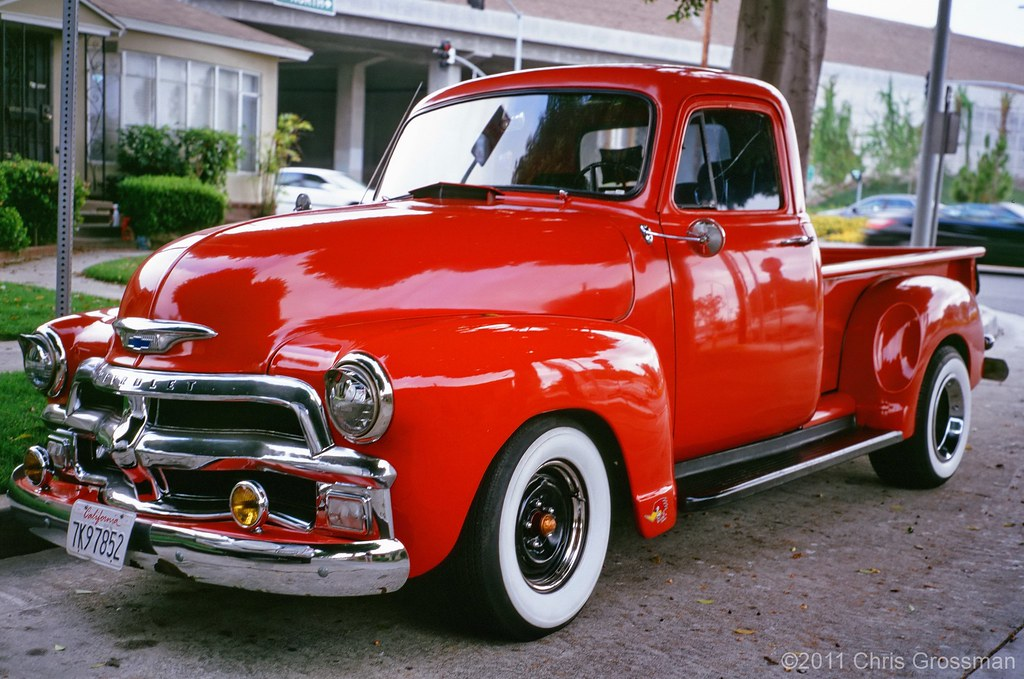 1954 Red Chevy Pick Up Truck Ga645zi Astia 100 Flickr