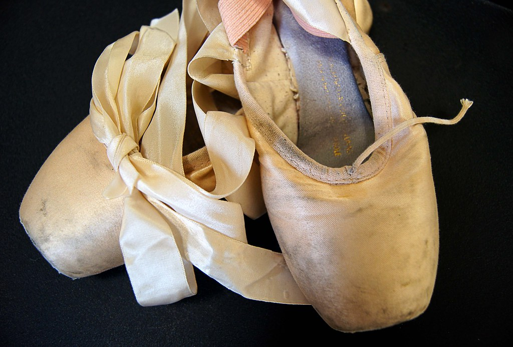 ballet slippers all worn out ballet slippers 2