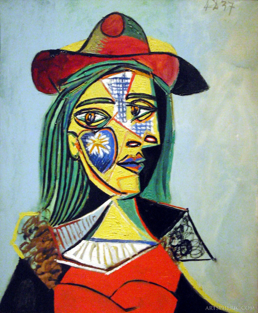 Pablo Picasso - Woman in Hat and Fur Collar - Portrait of … | Flickr