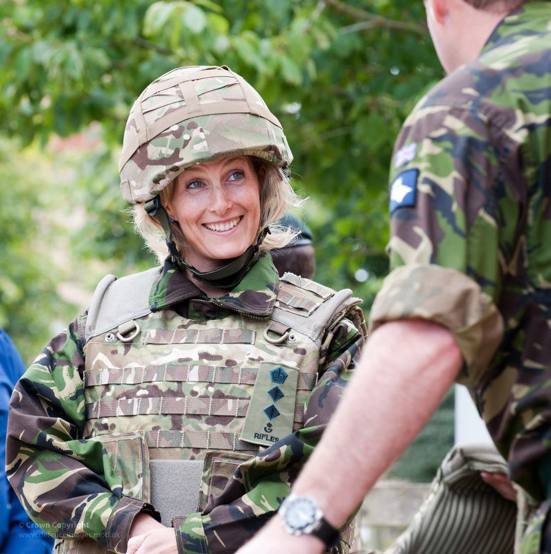 Hrh Sophie Countess Of Wessex Chats With Soldiers Of 5 Rif -2130
