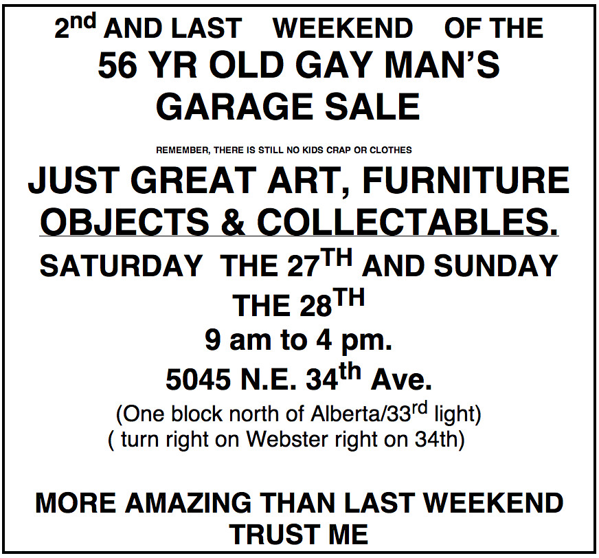 Estate Sales Near Me This Weekend: 56 YR OLD GAY MAN'S GARAGE SALE