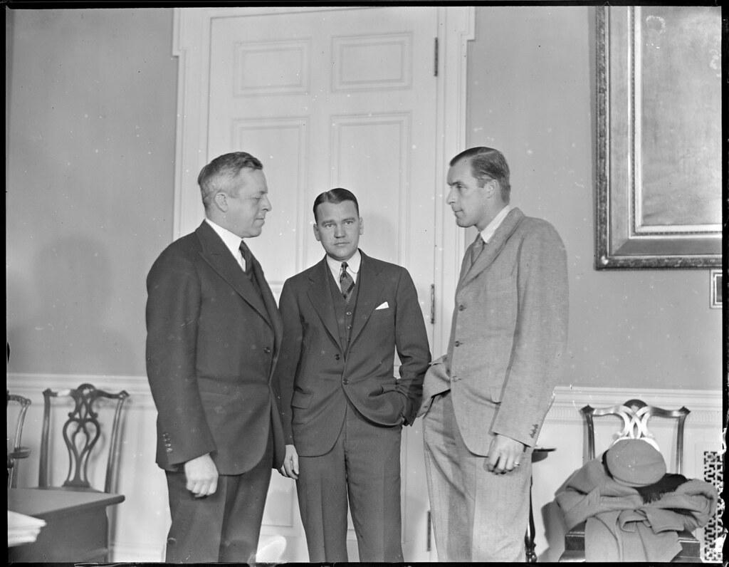 Bill Tilden and Vinny Richards visit Gov Joseph Ely at St…