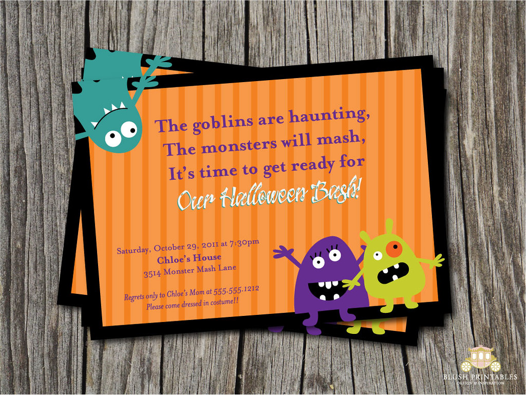 5x7 Monster Mash Party Printable - DIY - Kids Party Invita… | Flickr