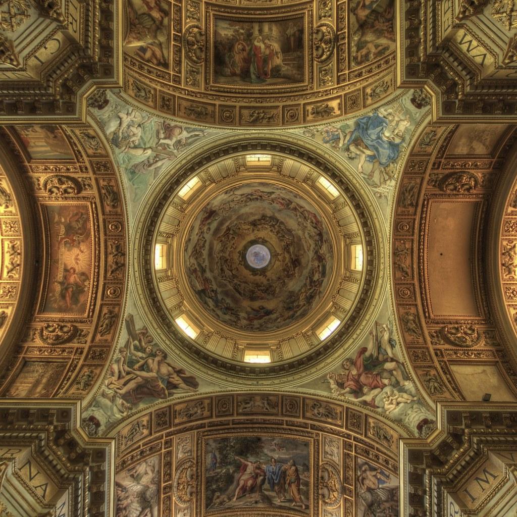 Sant 39 Andrea Della Valle Ceiling Details Rome Details