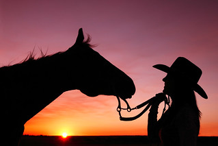 Cowgirl At Sunset | by www.toddklassy.com