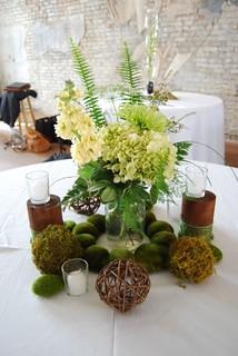 Moss Green Wedding Cake With Golden