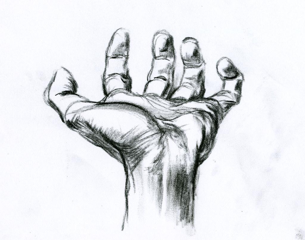Etude de main 4 hand study dessin rapide au crayon - Main dessin crayon ...