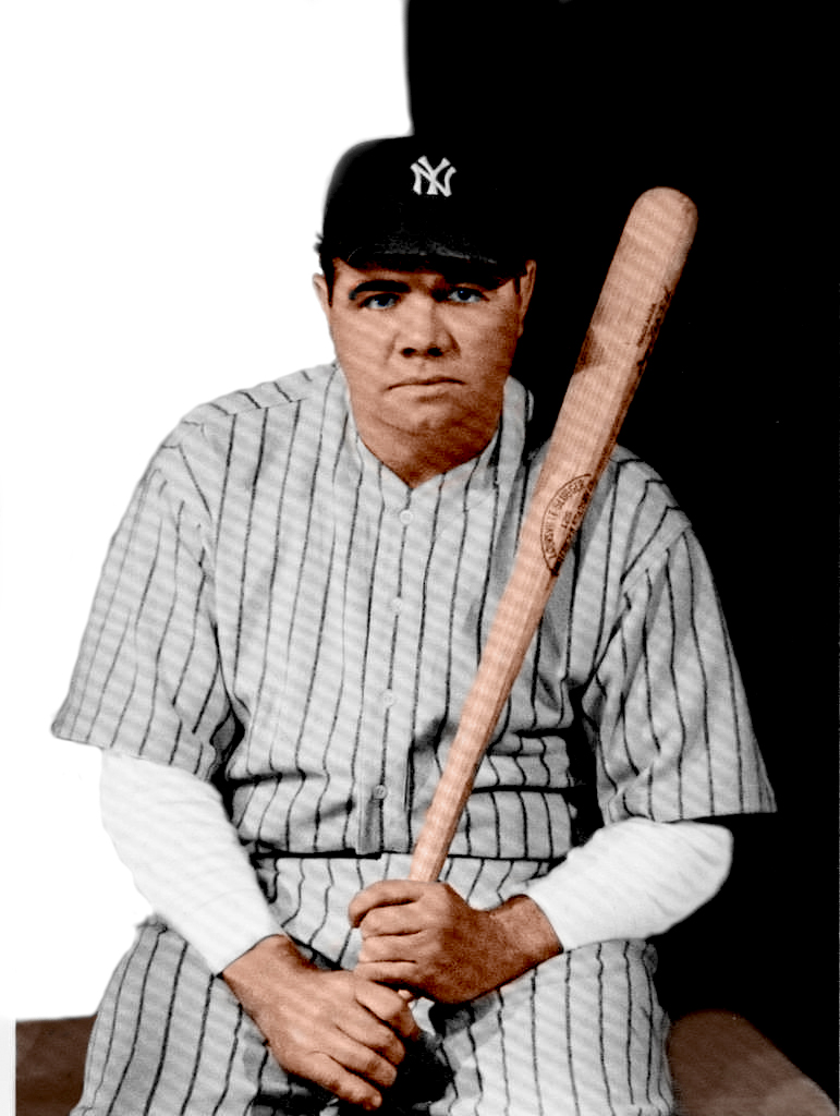Babe ruth in color colored him a bit likest0fightguy for Babe ruth coloring pages