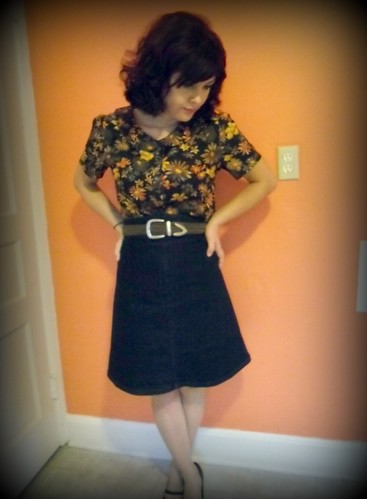 violet blouse & ginger skirt | by lladybird