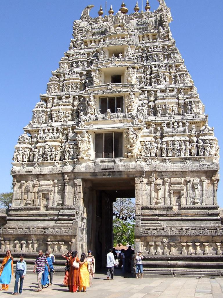 Halebid Gopuram Temple India Halebidu Is Located In