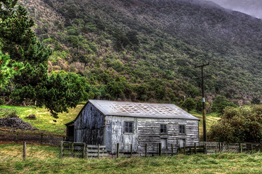 Old Farm Building Kaikoura Coast Canterbury New Zealand