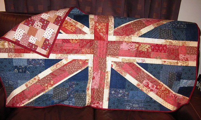 Shabby Chic Union Jack Quilt Flickr - Photo Sharing!
