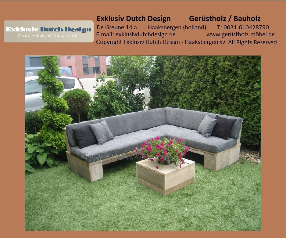 bauholz lounge bank. Black Bedroom Furniture Sets. Home Design Ideas