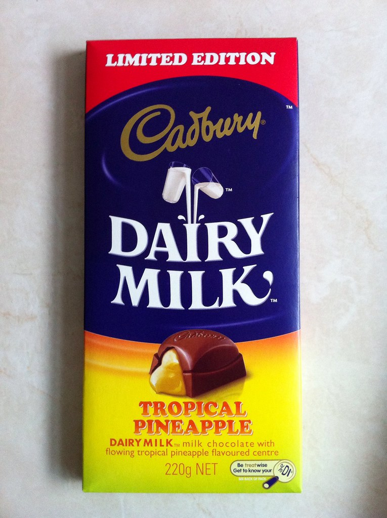 Cadbury tropical pineapple | chocolate from new zealand.