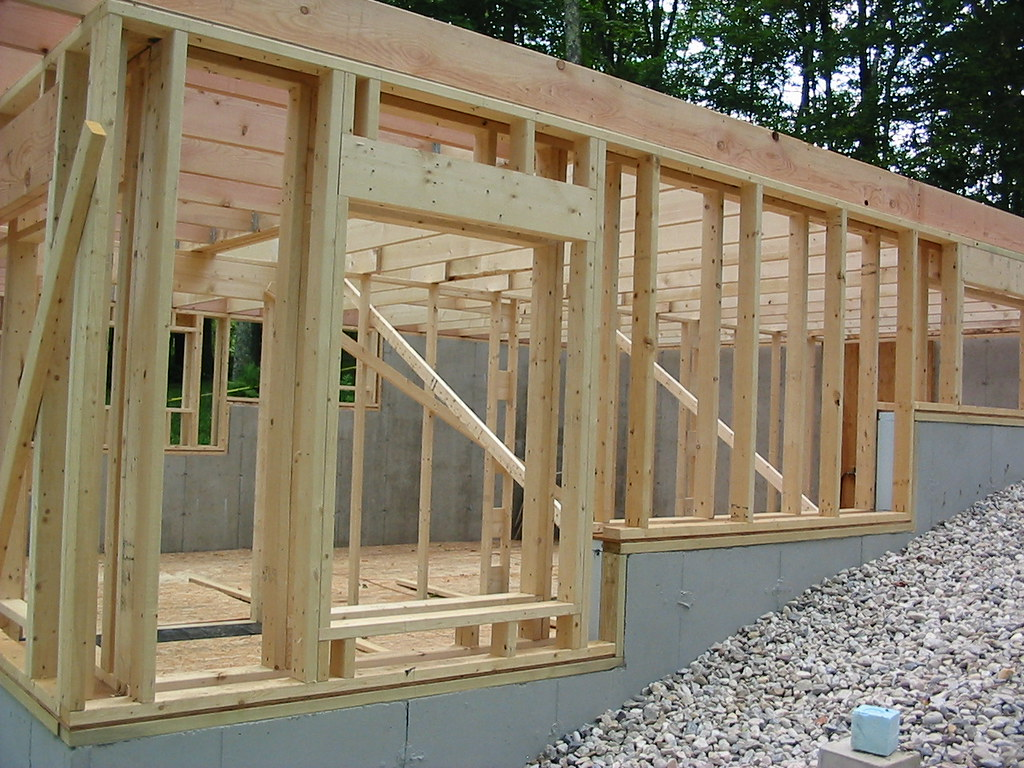 Double Wall Construction Building : Johnson double wall kd framing on