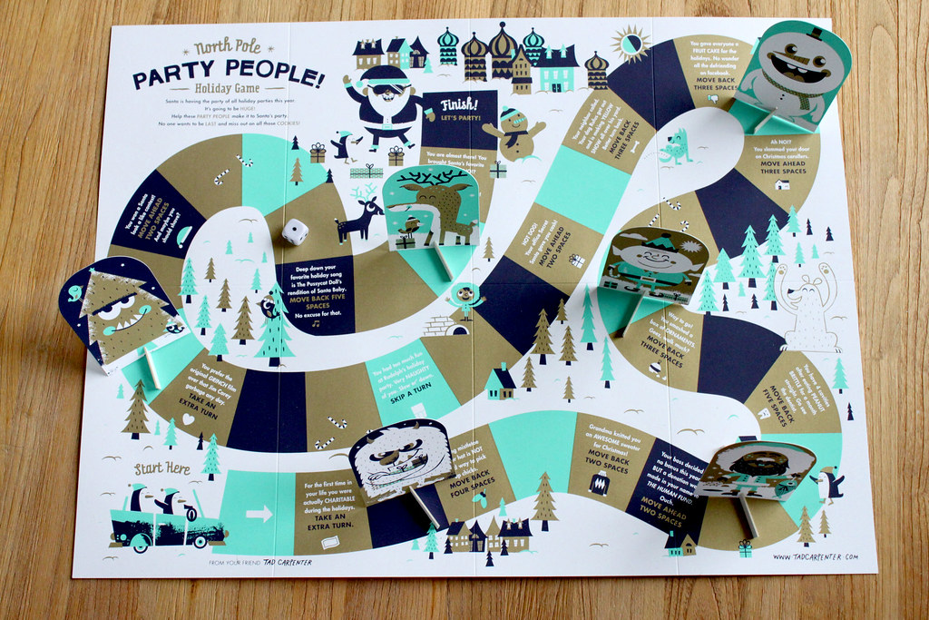North Pole Party People Game | Each year I design a set of ...