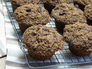100% whole grain carrot, raisin, zucchini bran muffins 1 | by Farmgirl Susan