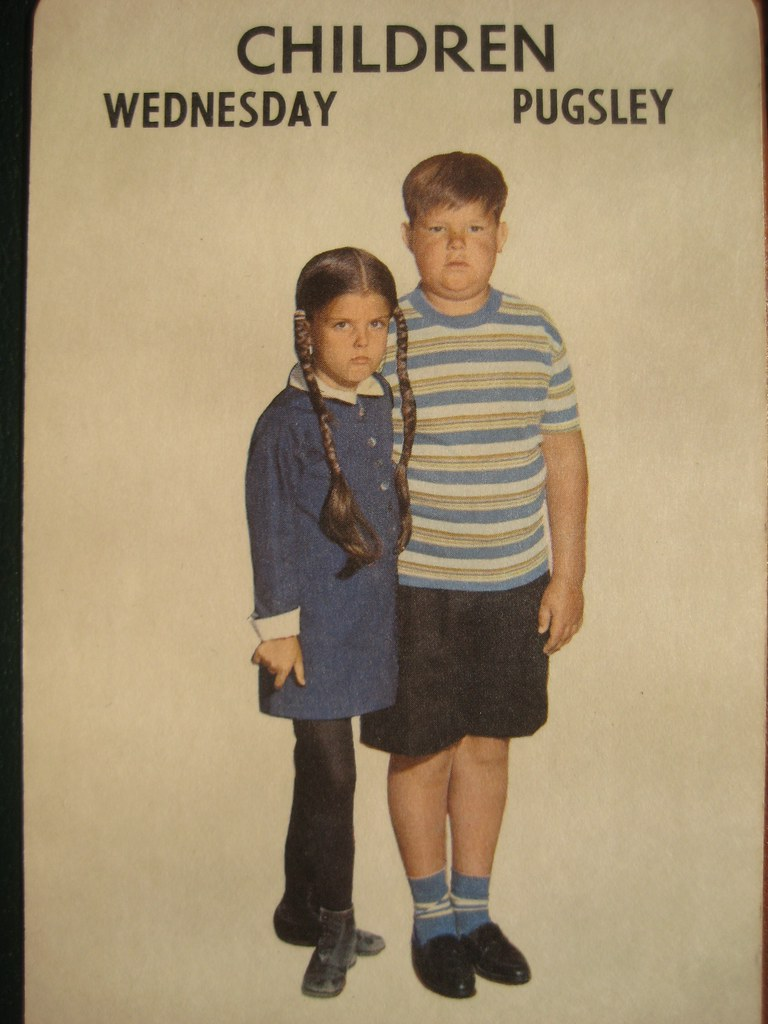 Wednesday And Pugsley Addams Family 1965 Card Game 2767