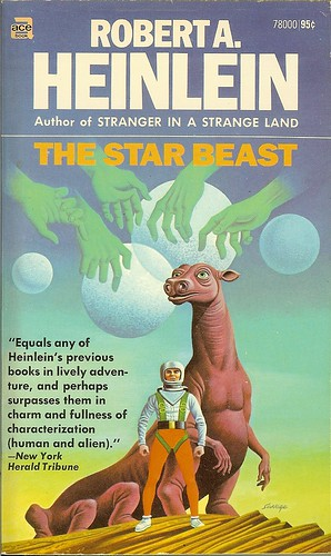 Robert A. Heinlein - The Star Beast - cover artist  Steele Savage