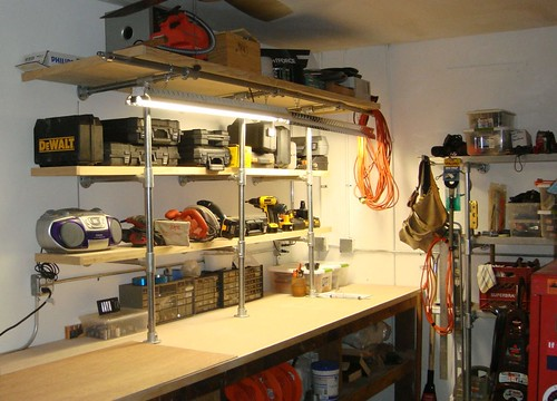Man Cave Shelving Upgrade Kee Klamp Shelf Supported By