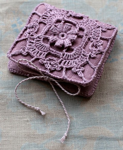 Easy Crochet Book Cover ~ New needle book namolio flickr