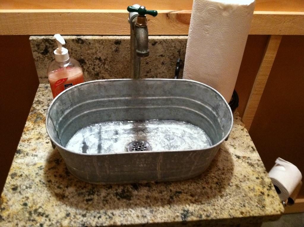 Cool sinks we saw a lot around tn wanderinglavignes flickr for Metal bucket sink