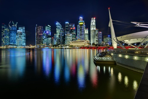Singapore CBD skyline from Esplanade | by Nicolas Lannuzel