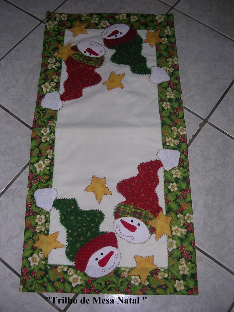 Trilho de mesa natal clarizabel yamanishi flickr - Manteles para navidad ...