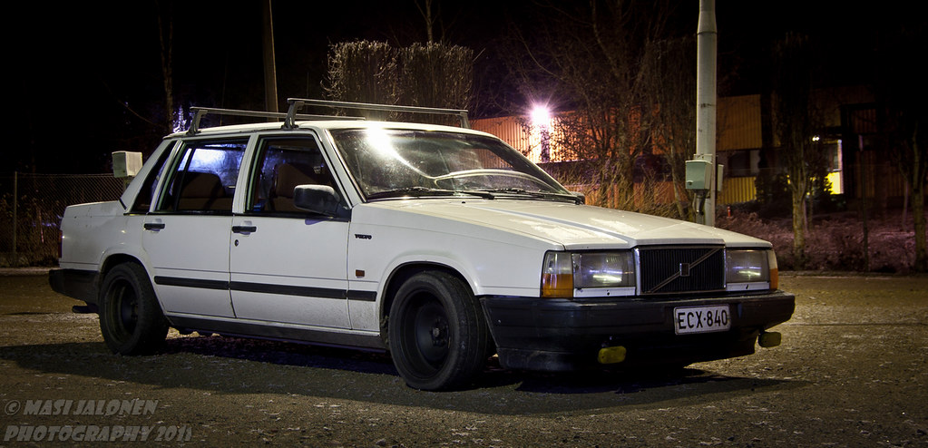 Volvo 740 playing with flashlights masi flickr