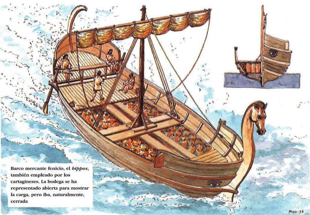 Hippos barco cartagines barco mercante fenicio el for Disegno cavallo per bambini
