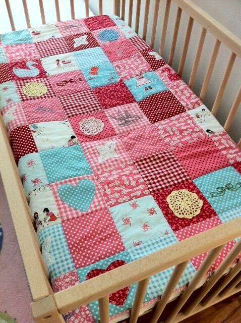 Free Patchwork Quilt Patterns Cots : Handmade cot quilt patchwork, applique and embroidery - us? Flickr