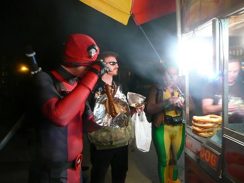 Deadpool Eating A Sausage