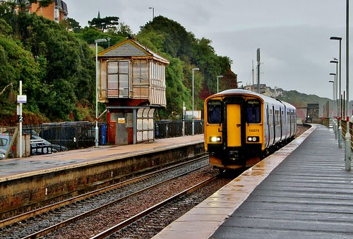 150219 arriving at Dawlish in the rain | by KPAR Media UK