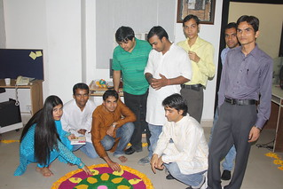 Rocket Team Preparing Rangoli | by Candid & PageTraffic