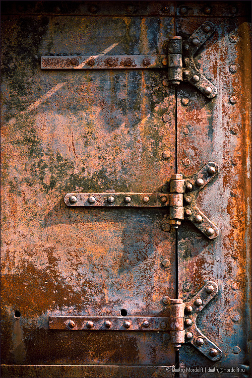 Fine Rusty Metal Door With Hinge By Dmitry Mordolff K In Design