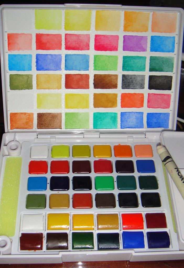 Sakura Koi Watercolor Field Palette 12 Winsor Amp Newton Poc