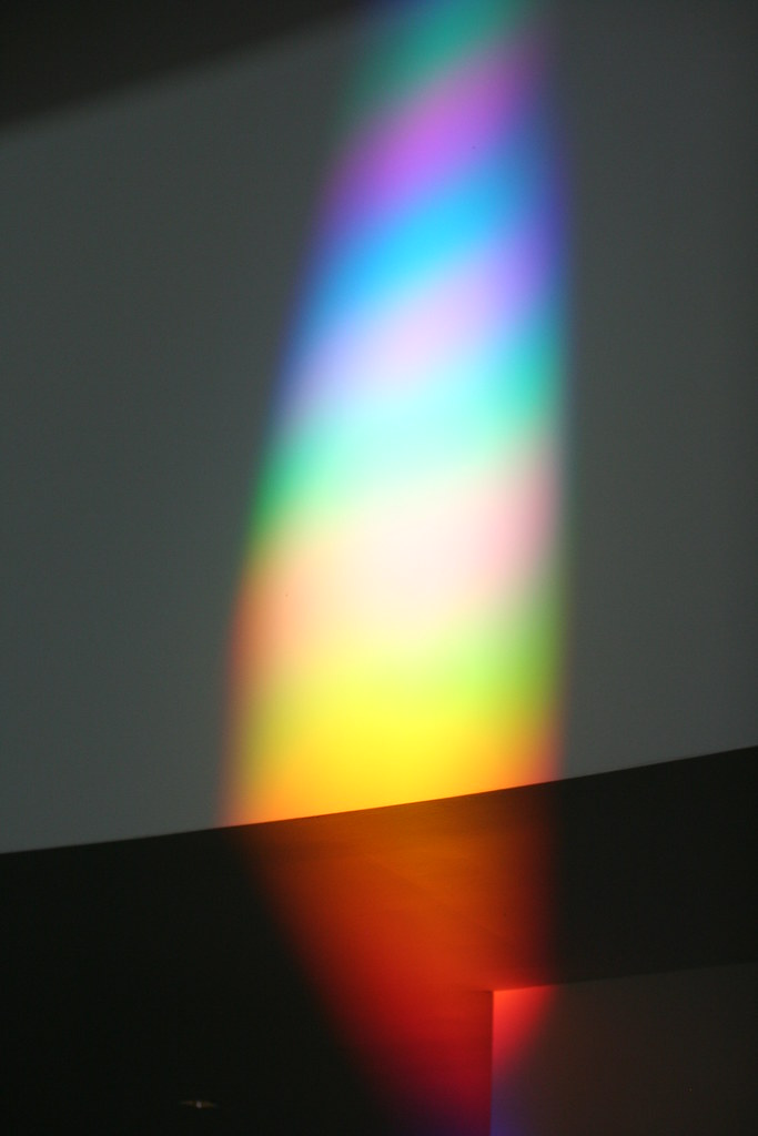 Rainbow Light Spectrum Effect On Wall At The National Muse