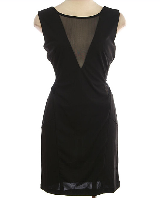 Black Dress With Cutout Mesh Front And Sides Out Of Stoc Flickr